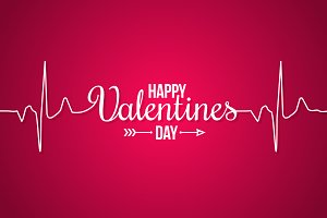 Valentines day banner line concept