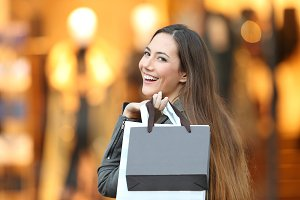 Portrait of a happy fashion shopper