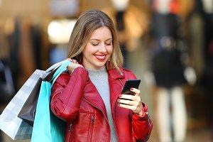 Portrait of a happy shopper
