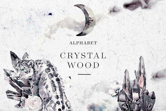 Crystal Wood Alphabet & Bundle
