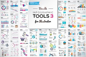[-44%] Infographic Tools Bundle v. 3