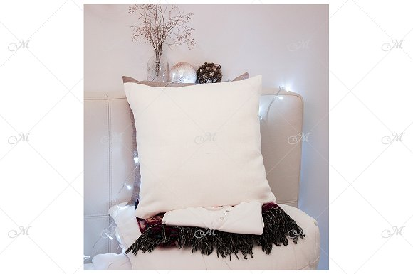 Xmas Pillow Mockup. PSD+JPG in Product Mockups - product preview 1