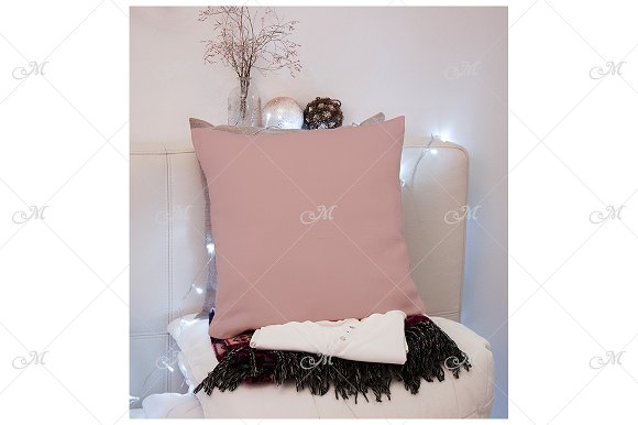 Xmas Pillow Mockup. PSD+JPG in Product Mockups - product preview 2