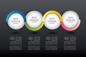 Infographic vector option banner