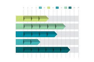 3D chart, graph