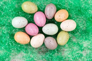 colorful spotted Easter eggs
