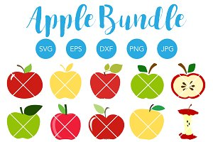 Apple SVG Bundle for School Teacher