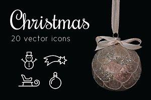 CHRISTMAS - vector line icons