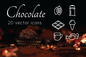 CHOCOLATE - vector line icons
