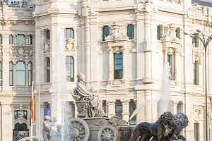 Cibeles fountain square in Madrid