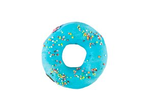 donuts covered with colored glaze