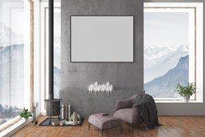 Blank wall mockup - interior mockup