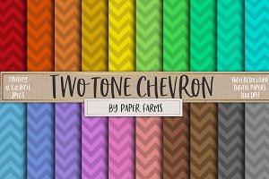 Two tone chevron