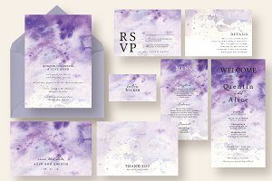 Dreamy Violet Ink Wedding Suite