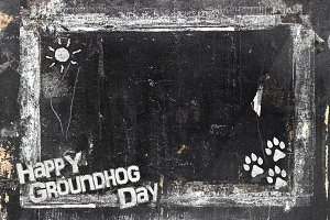 Chalkboard Groundhog Day