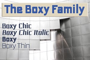 The Boxy squared sans family