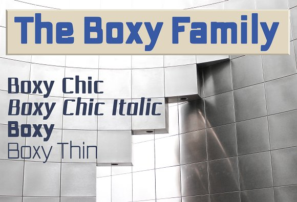 The Boxy squared sans famil-Graphicriver中文最全的素材分享平台