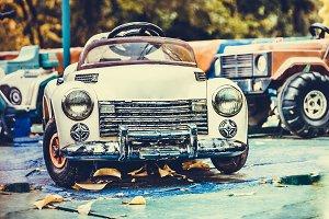 abandoned toy car