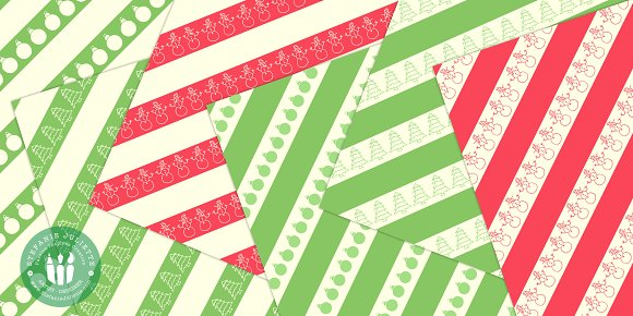 Geometric Christmas Doodle Pack in Patterns - product preview 2