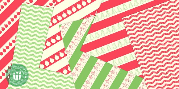 Geometric Christmas Doodle Pack in Patterns - product preview 3