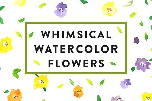 Whimsical Watecolor Flowers