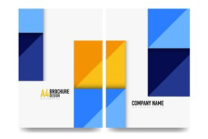Square business a4 brochure cover design, flyer, annual report