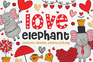 collection elephant in love