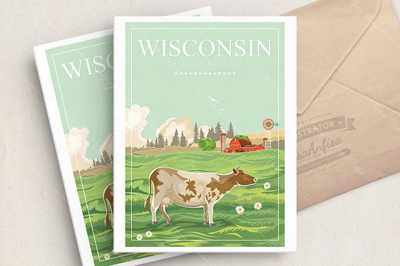 Wisconsin vector illustration