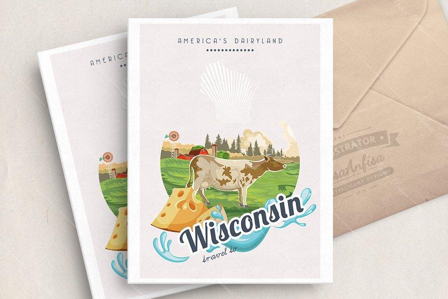 Wisconsin vector illustration