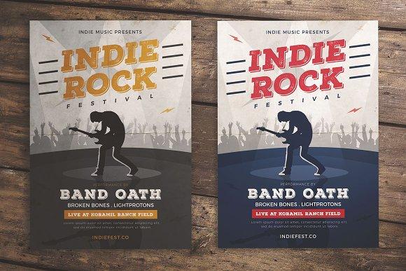 Indie Rock Music Flyer