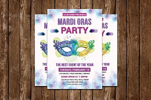 Mardi Gras Event Flyer V731