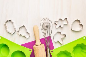Bake tools with cookie moulds