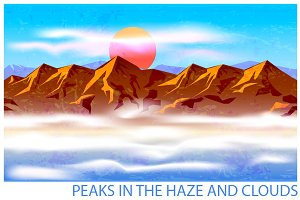 Peaks in the Haze and Clouds