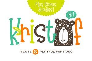 Kristof Font Duo + Doodles!
