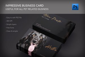 Dog animal lovers care business card