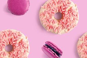 Donut & macaroon pattern