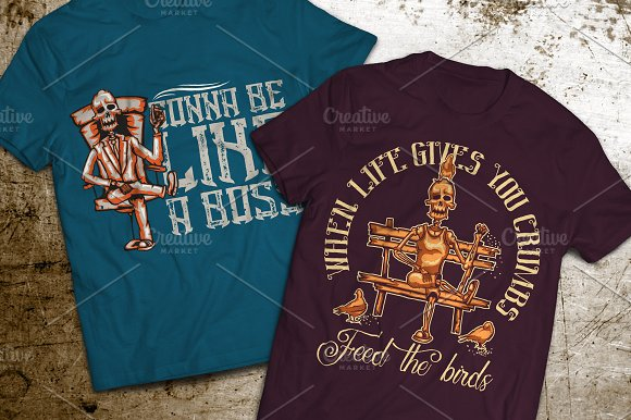 Boss T-shirts And Poster Labels