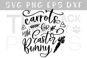 Carrots for the Easter Bunny SVG DXF