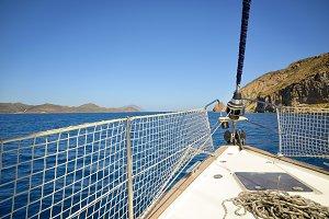 sailing a sailboat
