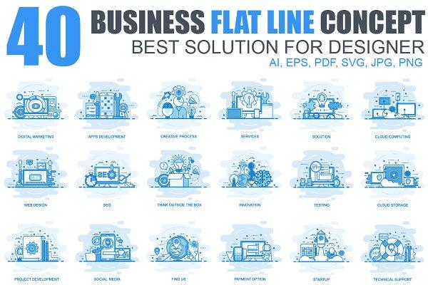 Flat Line Color Concepts