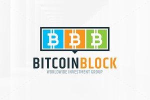 Bitcoin Block Logo Template