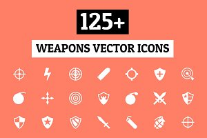 125+ Weapons Vector Icons