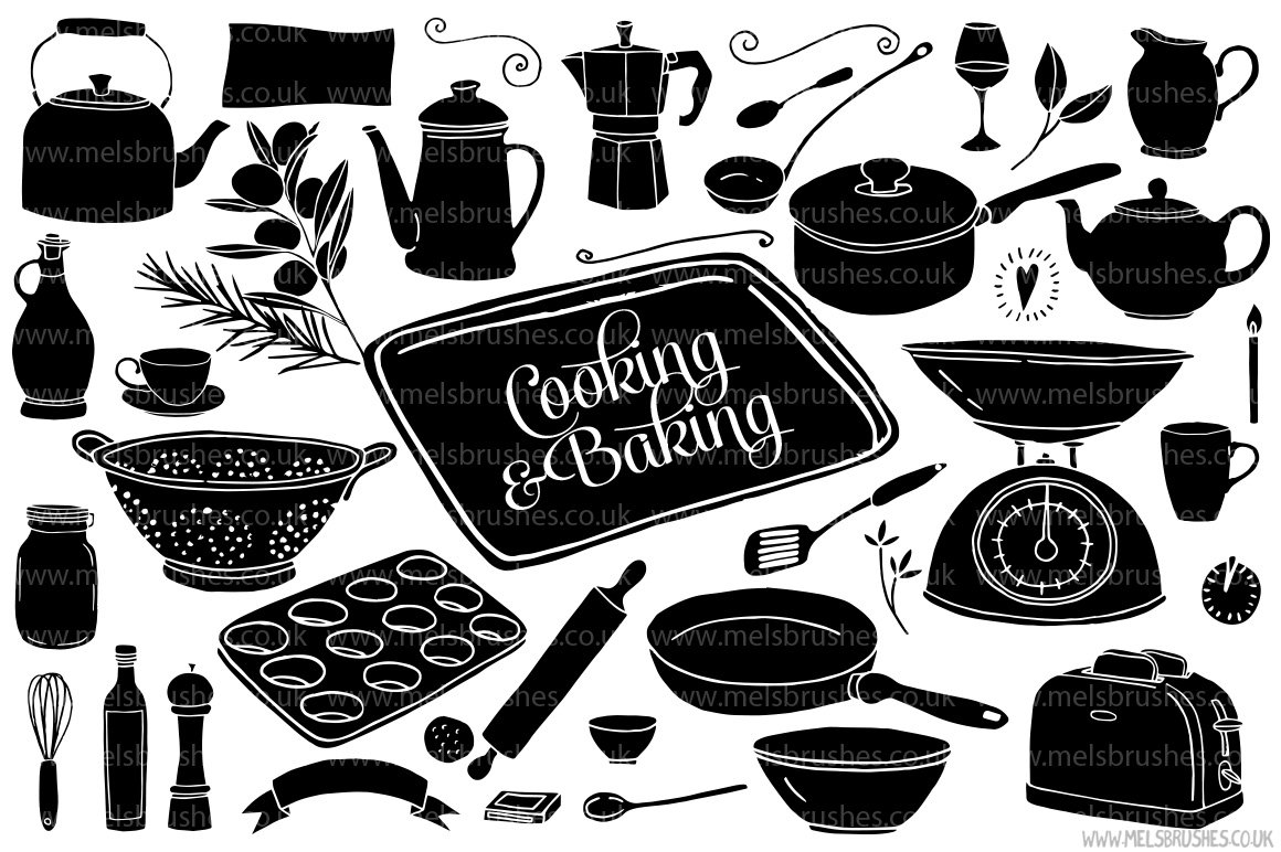 cooking baking illustrations illustrations creative market