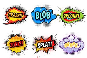 Comic Sound Effects Set