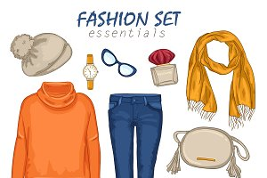 Fashionable Clothing Girl Collection