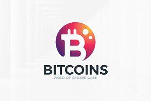 Bitcoins Logo Template