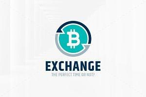Bitcoin Exchange Logo Template