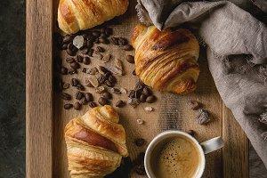 Fresh baked croissants