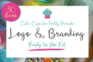 Cute Cupcake Brand & Logo Kit
