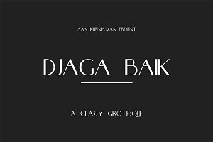 DJaga Baik (A classy Grotesque Sans)